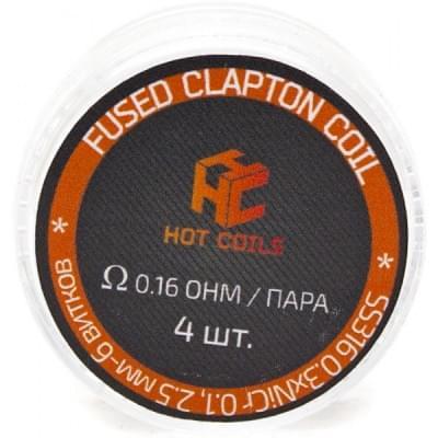 Койлы Hot Coils Fused Clapton SS 0.16 Ом на пару для электронных сигарет