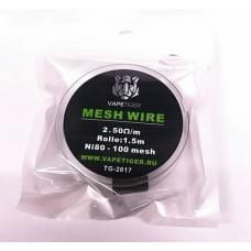 Сетка Vapetiger Mesh Wire Ni80-100 2.5 Ом/м 1.5м