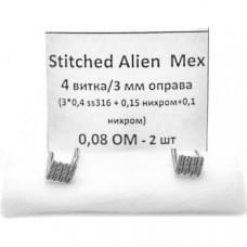 Койлы New Coils Stitched Alien МЕХ 0.08 Ом SS+NI, (3x0.4), пара